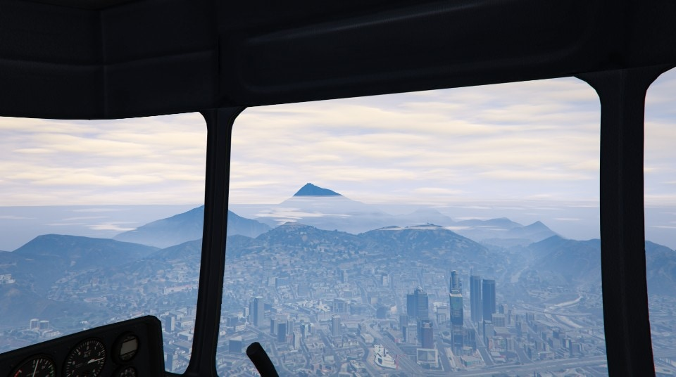 GTA V Massive Draw Distance  You can see the Cable Car